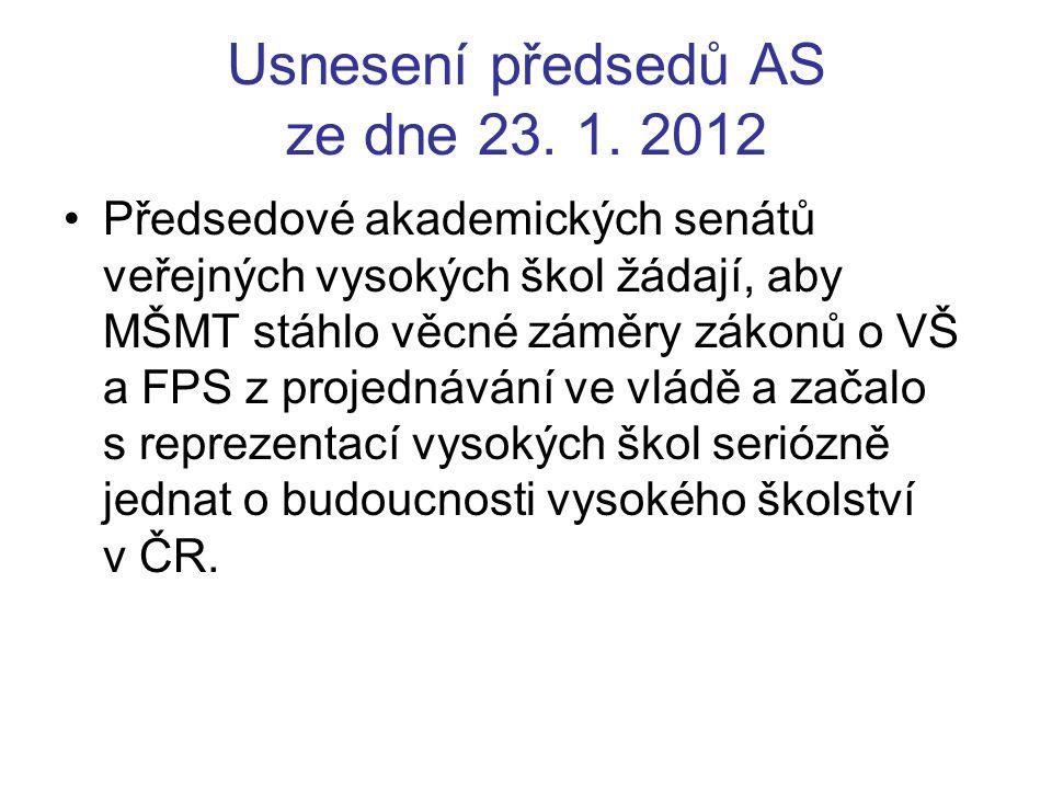 Usnesení AS UTB č.9/1 z mimořádného zasedání AS UTB 7.