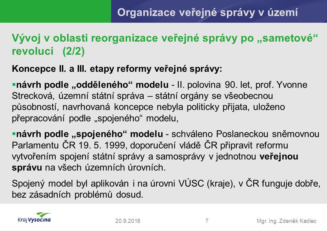 Mgr. Ing. Zdeněk Kadlec Koncepce II. a III.