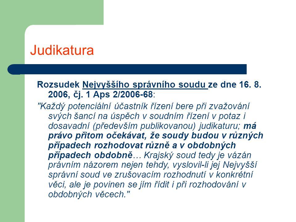 Judikatura Rozsudek Nejvyššího správního soudu ze dne 16.