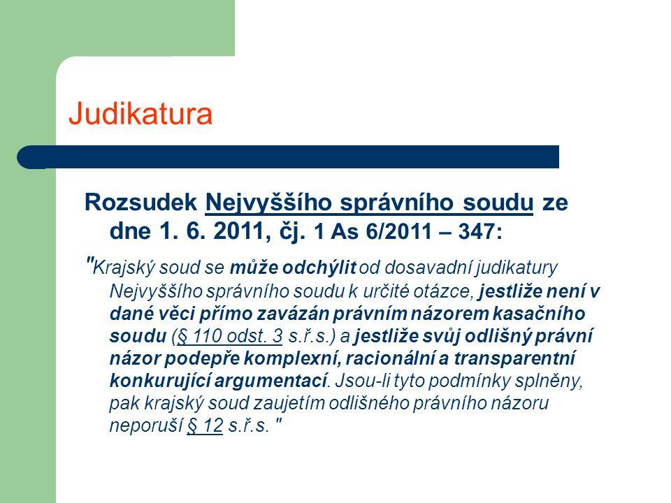 Judikatura Rozsudek Nejvyššího správního soudu ze dne 1.