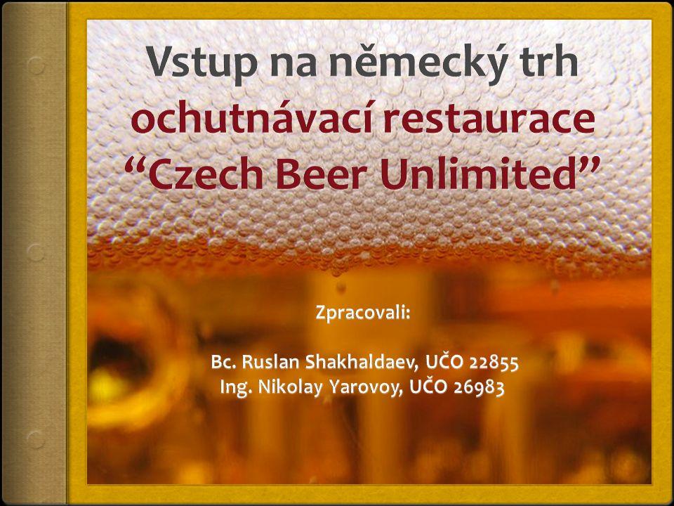 Popis podniku  Ochutnávací restaurace «Czech Beer Unlimited».