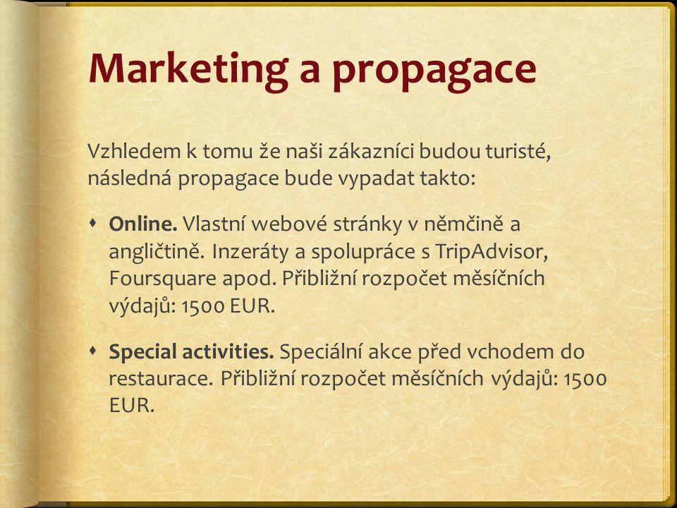 Marketing a propagace Vzhledem k tomu že naši zákazníci budou turisté, následná propagace bude vypadat takto:  Online.