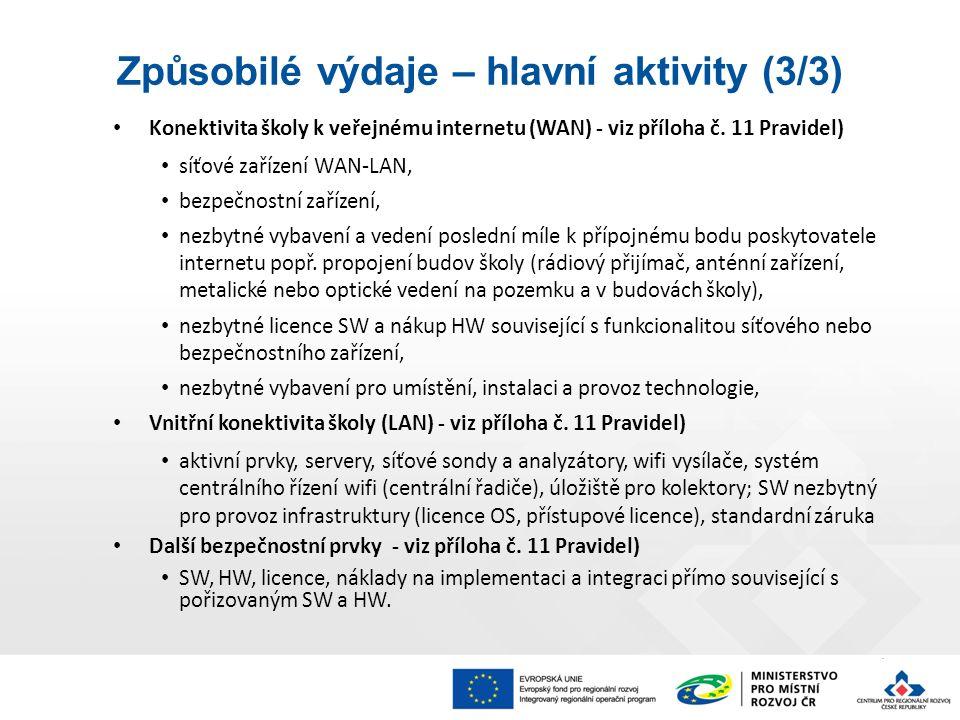 Konektivita školy k veřejnému internetu (WAN) - viz příloha č.