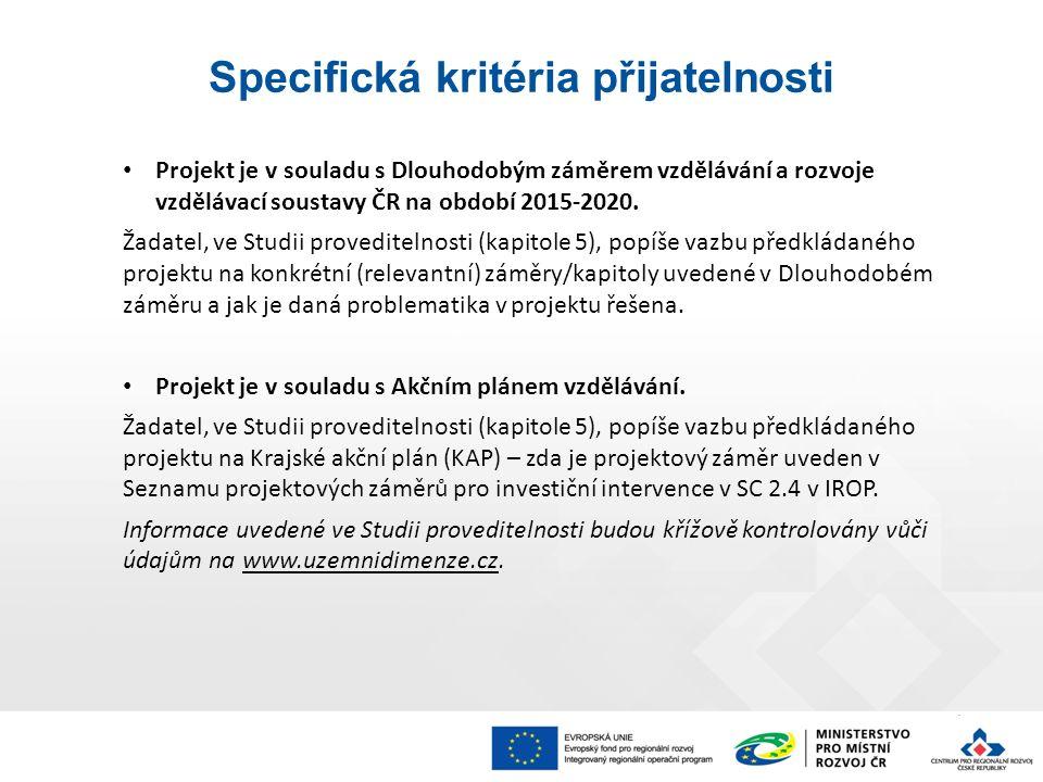 Projekt je v souladu s Dlouhodobým záměrem vzdělávání a rozvoje vzdělávací soustavy ČR na období 2015-2020.