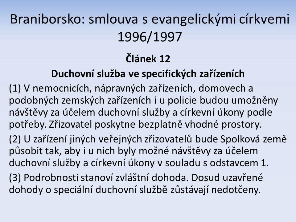 3.2 Vnitrostátní dohody Na úrovni státní či resortní – dosud nic Předpoklad: mezicírkevní dohody Dohoda o duchovní péči ve zdravotnictví ČBK + ERC z 20.