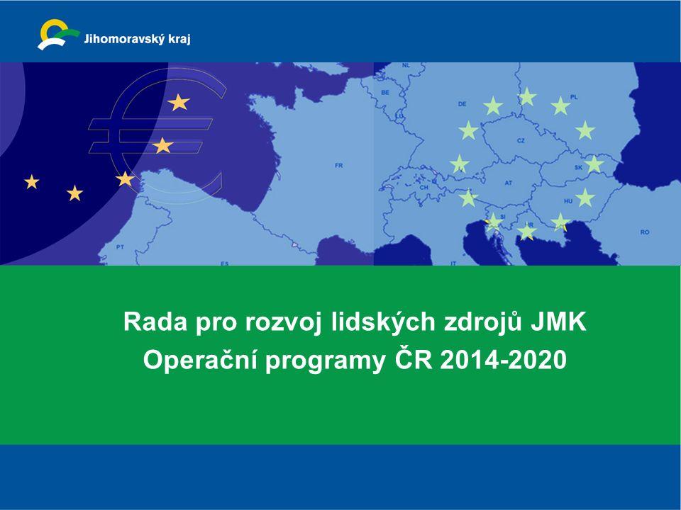 Rada pro rozvoj lidských zdrojů JMK Operační programy ČR 2014-2020