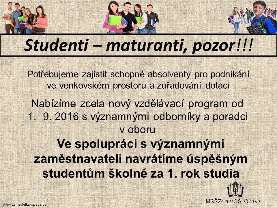 Nabízíme zcela nový vzdělávací program od 1.9.