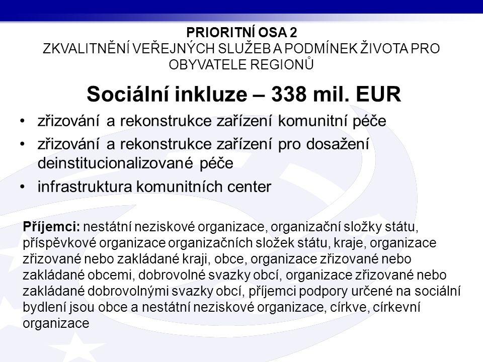 Sociální inkluze – 338 mil.