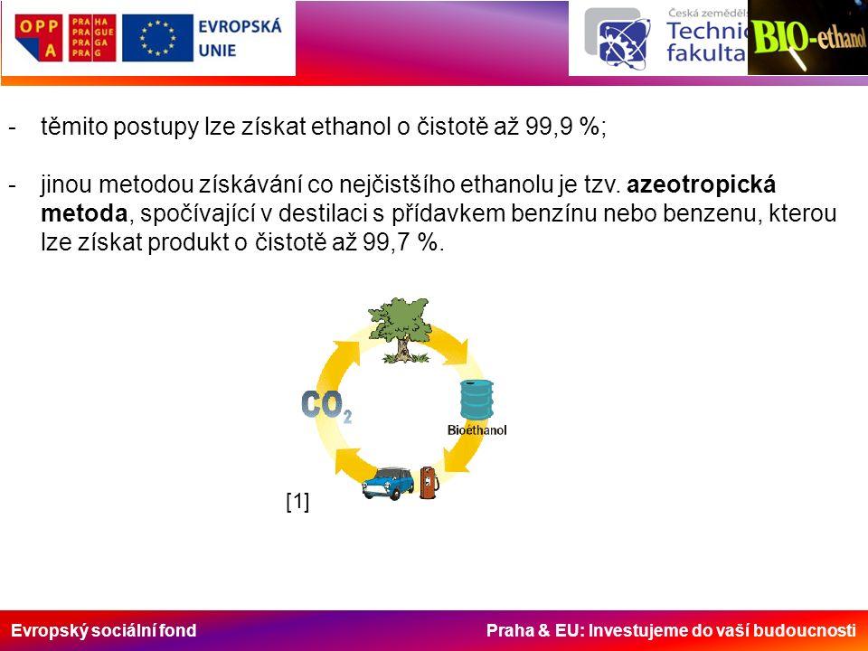 Evropský sociální fond Praha & EU: Investujeme do vaší budoucnosti -z důvodu vyšší zápalné teploty ethanolu, než kterých se dosáhne komprimováním vzduchu ve vznětovém motoru, musí být aditivován tzv.