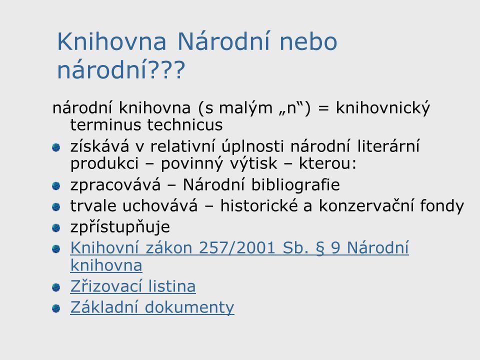 Knihovna Národní nebo národní??.