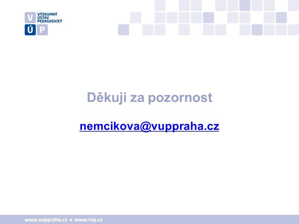 Děkuji za pozornost nemcikova@vuppraha.cz
