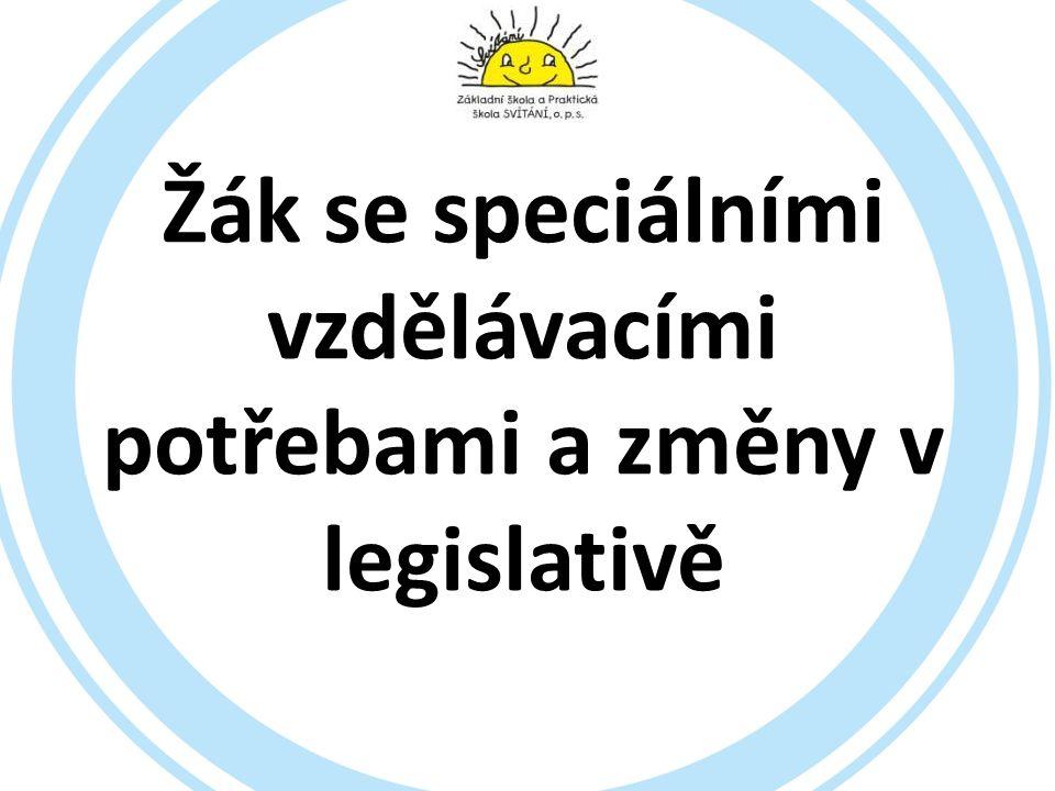 Žák se speciálními vzdělávacími potřebami (SVP, PO) Školský zákon ve znění zákona č.