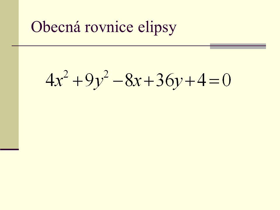 Obecná rovnice elipsy