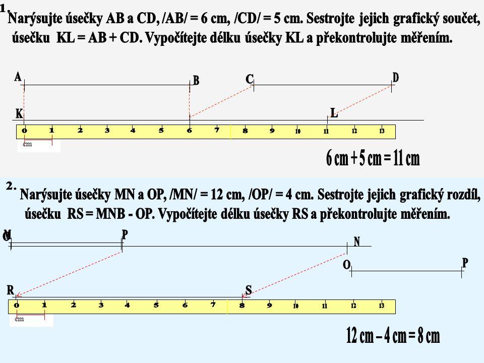 Délka graf. součtu cm