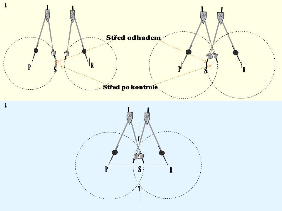 Konstrukce středu úsečky