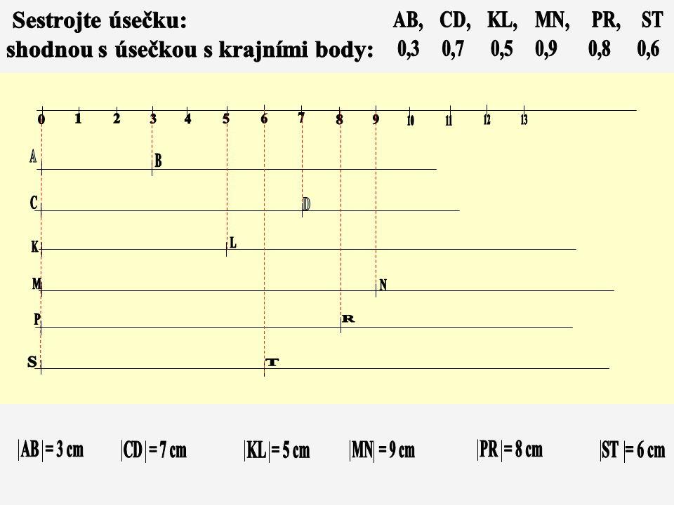 Délka graf. násobku cm