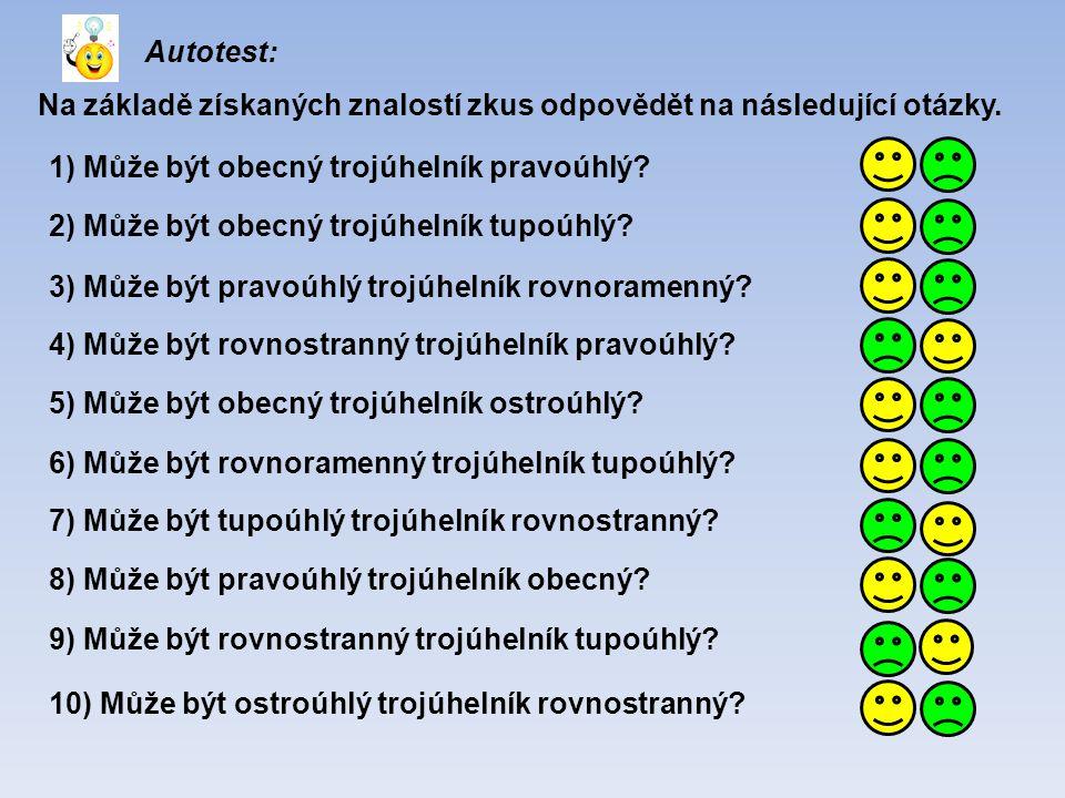 Autotest: Na základě získaných znalostí zkus odpovědět na následující otázky.