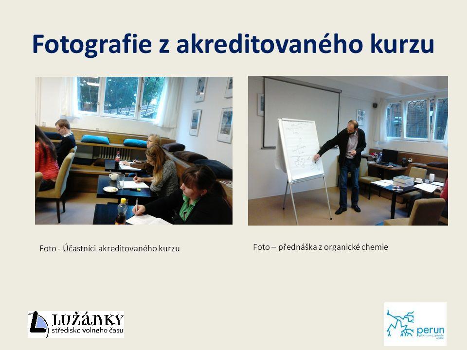 Fotografie z akreditovaného kurzu Foto - Účastníci akreditovaného kurzu Foto – přednáška z organické chemie