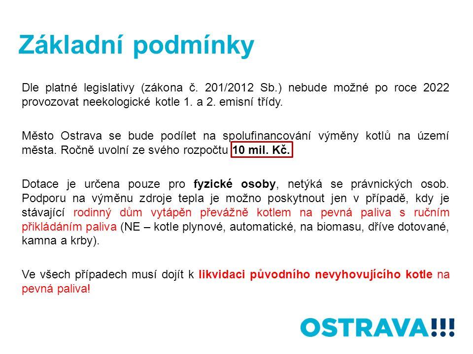 Základní podmínky Dle platné legislativy (zákona č.