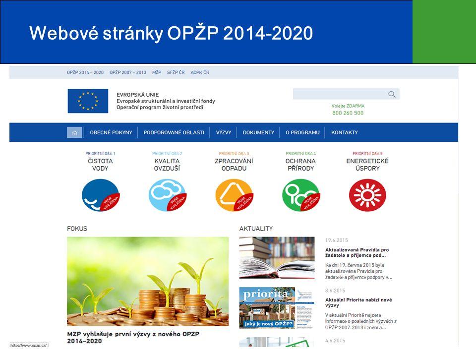 Webové stránky OPŽP 2014-2020 25