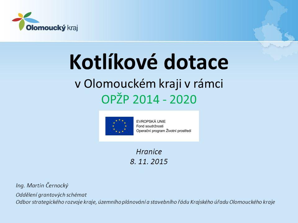 Kotlíkové dotace v Olomouckém kraji v rámci OPŽP 2014 - 2020 Hranice 8.