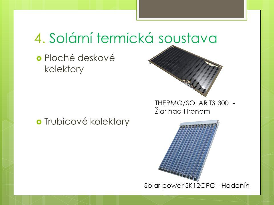  Ploché deskové kolektory  Trubicové kolektory THERMO/SOLAR TS 300 - Žiar nad Hronom Solar power SK12CPC - Hodonín