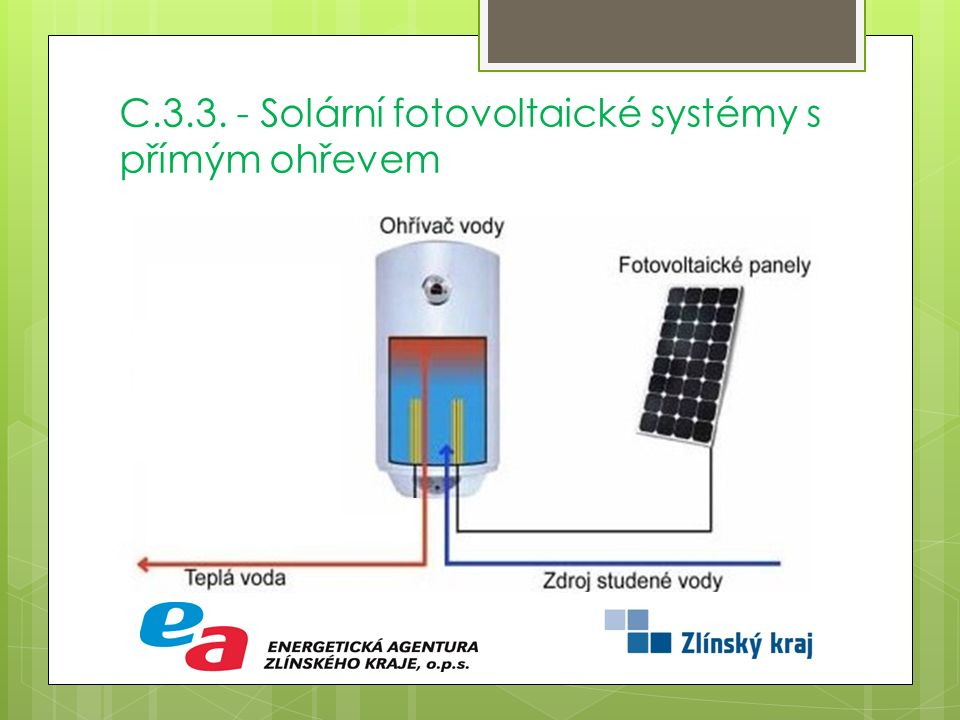 C.3.3. - Solární fotovoltaické systémy s přímým ohřevem