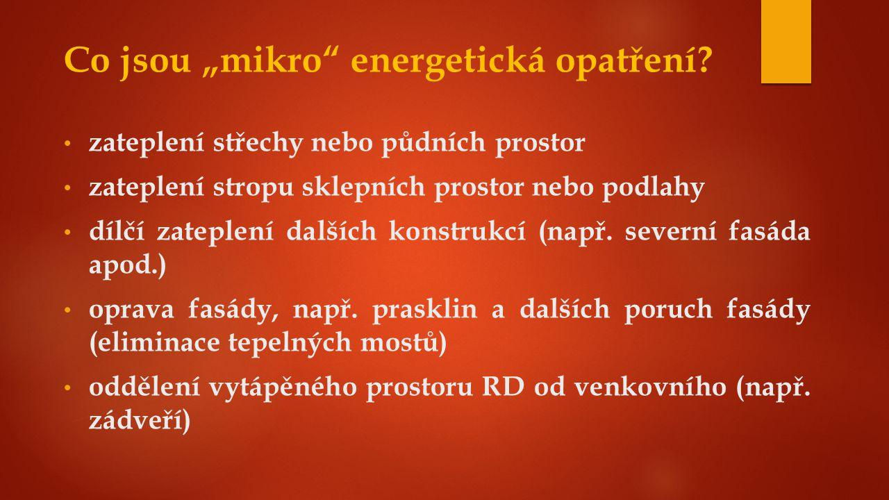 """Co jsou """"mikro energetická opatření."""