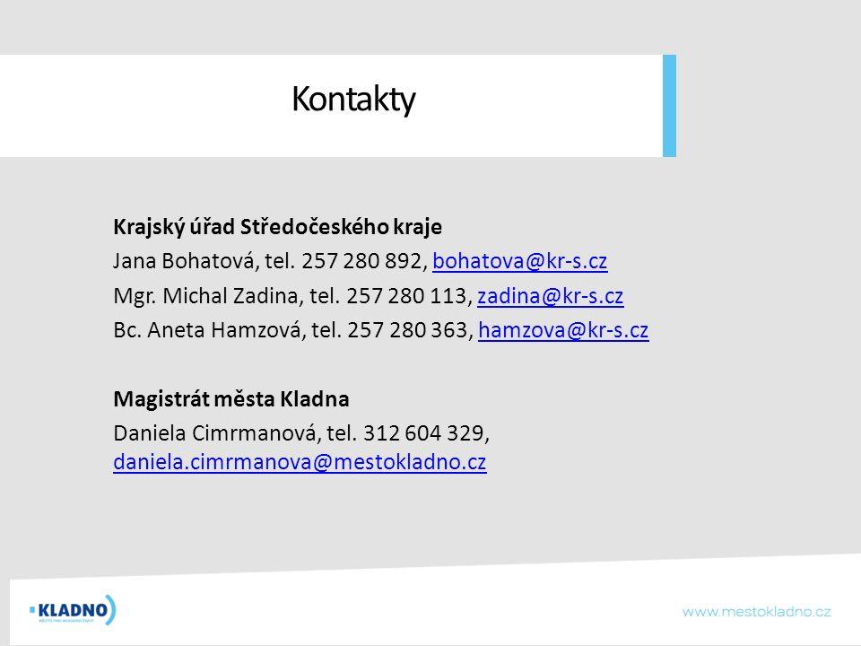 Kontakty Krajský úřad Středočeského kraje Jana Bohatová, tel.