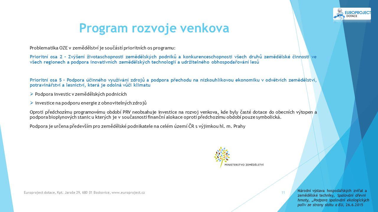 Program rozvoje venkova Europroject dotace, Kpt.