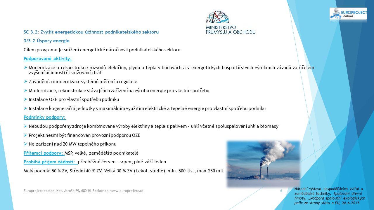 Europroject dotace, Kpt.