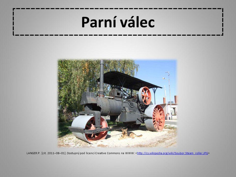 Parní válec LANGER.P. [cit. 2011–08–01]. Dostupný pod licencí Creative Commons na WWW: http://cs.wikipedia.org/wiki/Soubor:Steam_roller.JPG