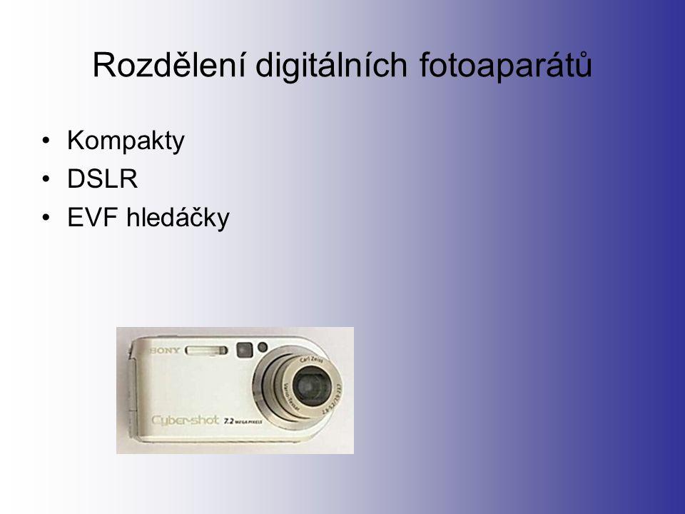 DSLR Je to digital single lens reflex camera.Tedy digitální zrcadlovka.