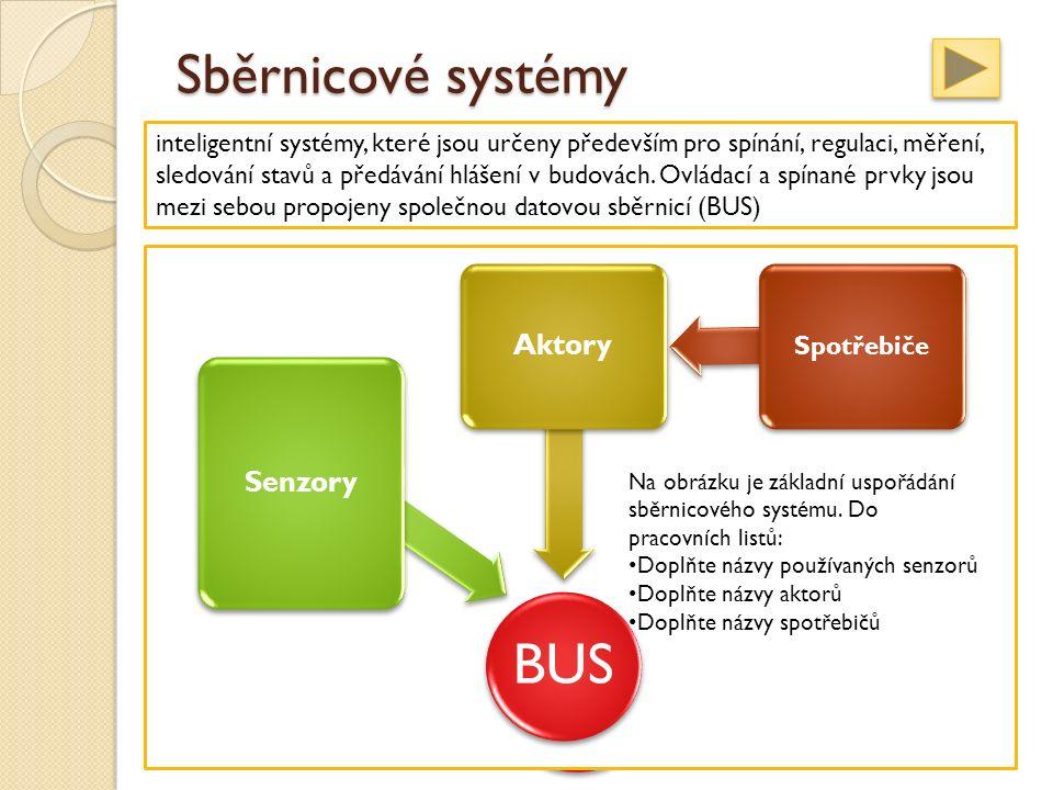 Sběrnicové systémy inteligentní systémy, které jsou určeny především pro spínání, regulaci, měření, sledování stavů a předávání hlášení v budovách.