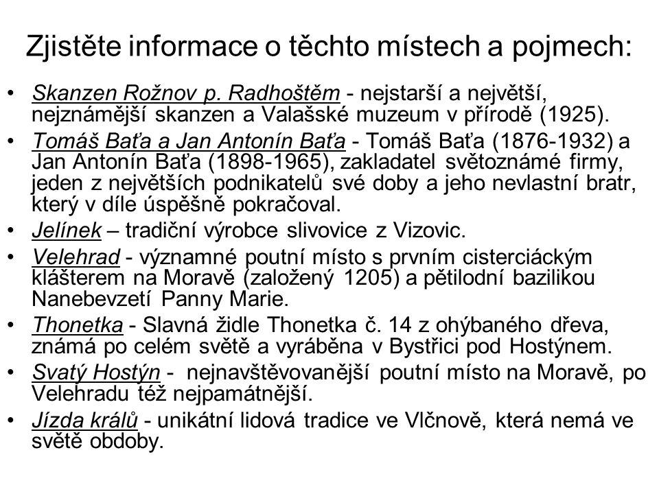 Zjistěte informace o těchto místech a pojmech: Skanzen Rožnov p.
