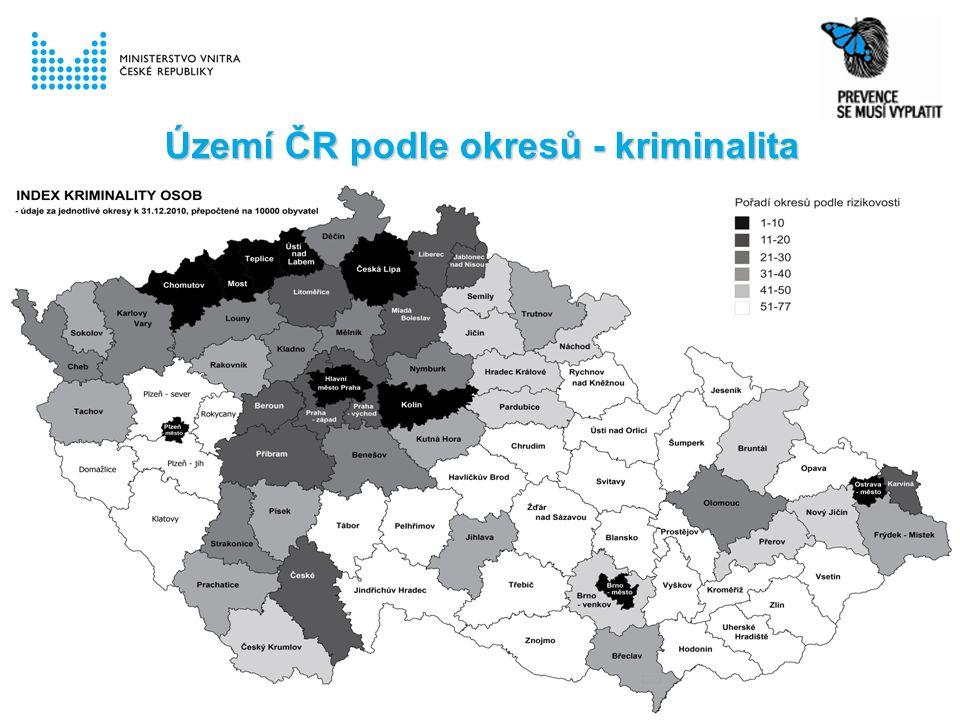 Území ČR podle okresů - kriminalita