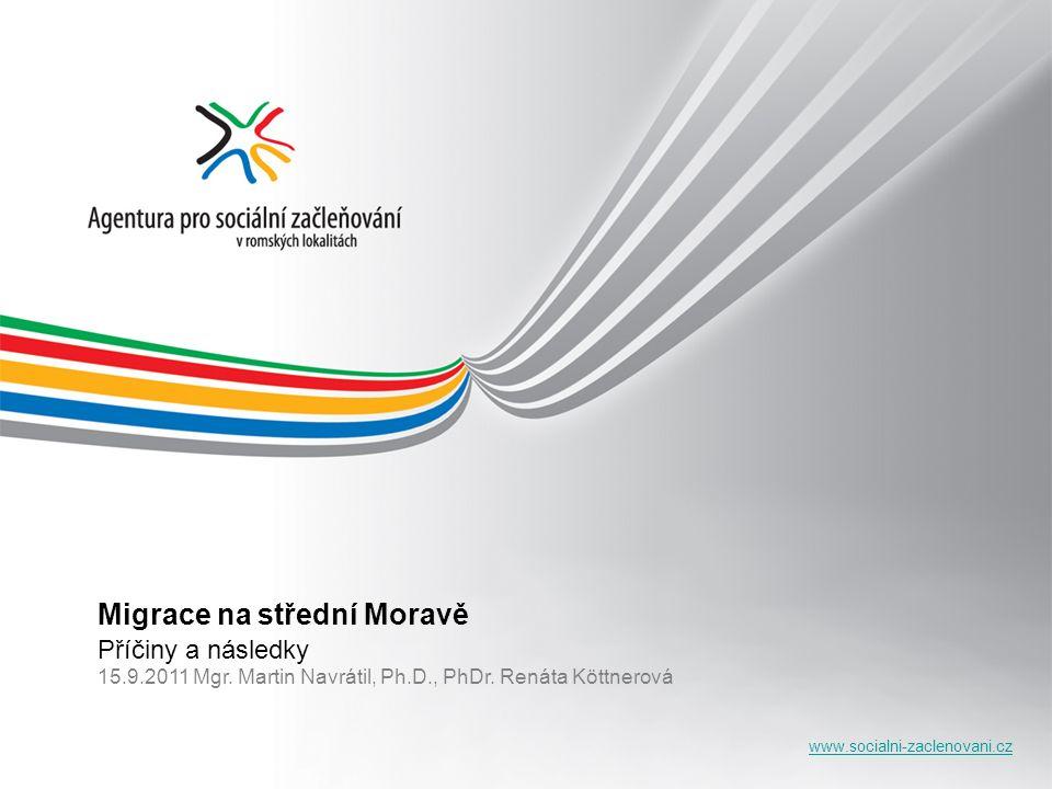 www.socialni-zaclenovani.cz Migrace na střední Moravě Příčiny a následky 15.9.2011 Mgr.