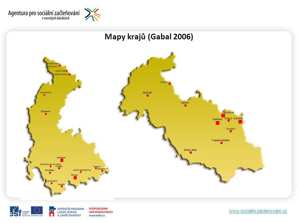 www.socialni-zaclenovani.cz Mapy krajů (Gabal 2006)