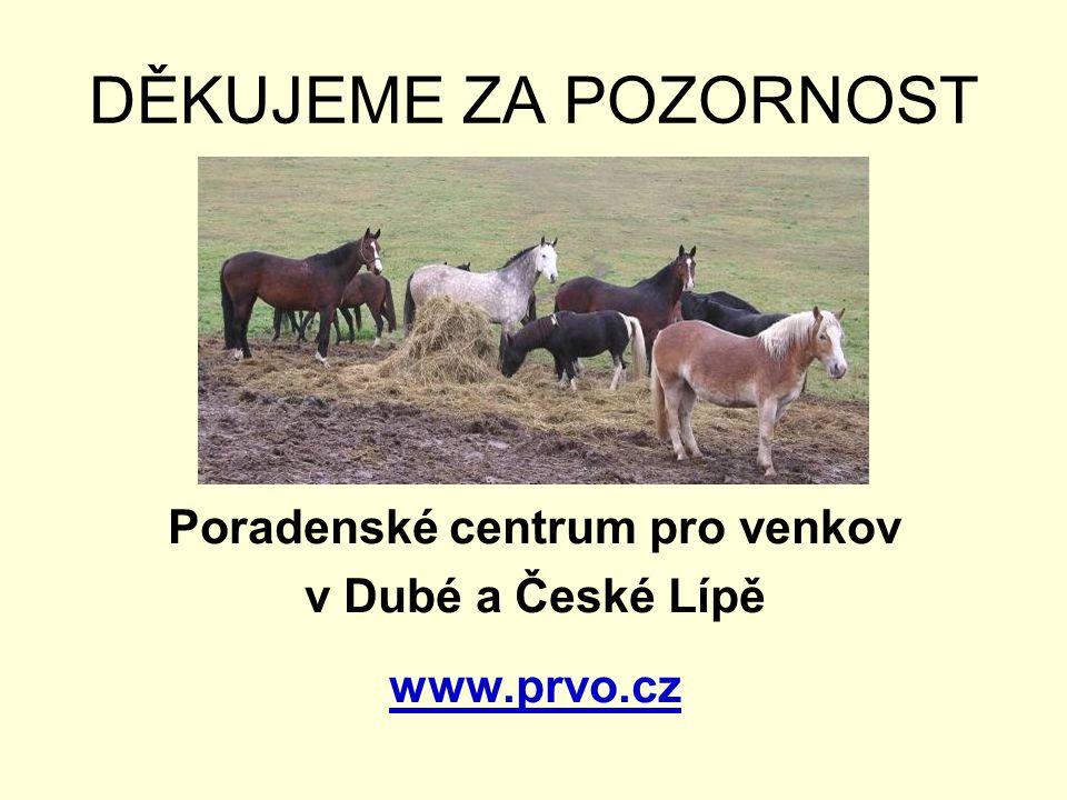 DĚKUJEME ZA POZORNOST Poradenské centrum pro venkov v Dubé a České Lípě www.prvo.cz