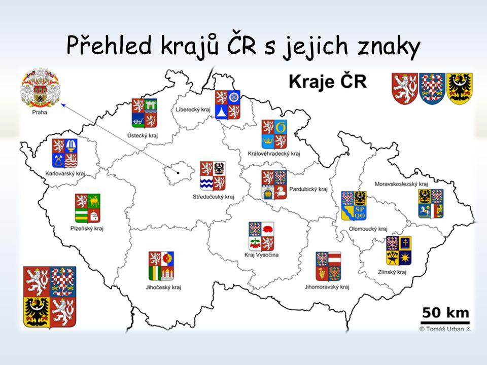 Mapa krajů České republiky