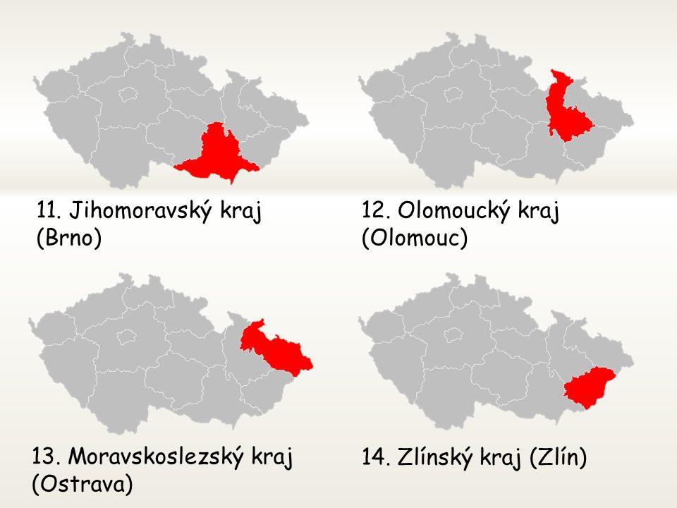 7. Liberecký kraj (Liberec)8. Královéhradecký kraj (Hradec Králové) 9. Pardubický kraj (Pardubice)10. Kraj Vysočina (Jihlava)