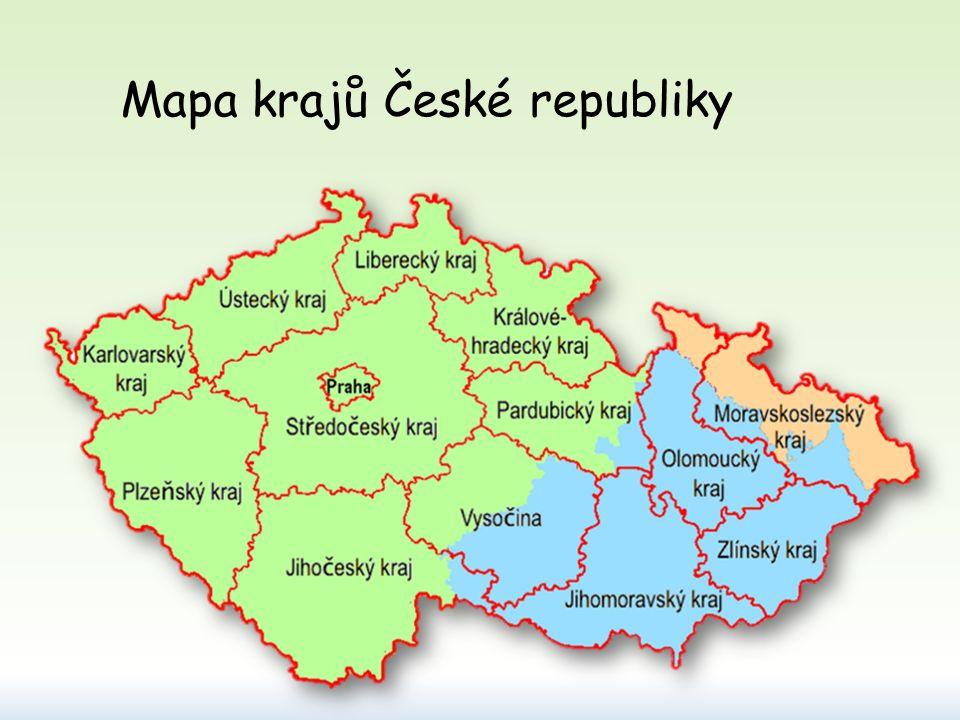 11. Jihomoravský kraj (Brno) 12. Olomoucký kraj (Olomouc) 13. Moravskoslezský kraj (Ostrava) 14. Zlínský kraj (Zlín)