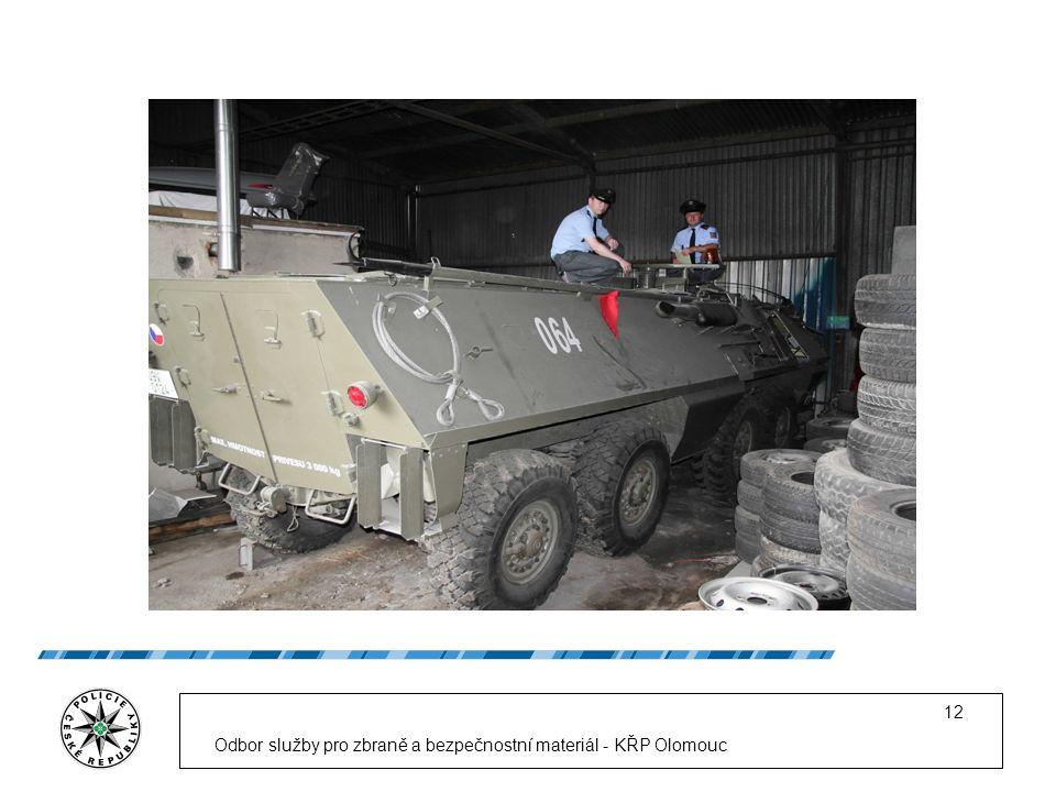 Odbor služby pro zbraně a bezpečnostní materiál - KŘP Olomouc 12