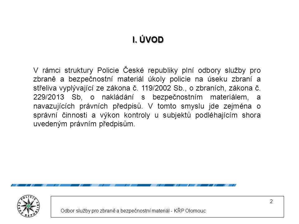 Odbor služby pro zbraně a bezpečnostní materiál - KŘP Olomouc 2 I.