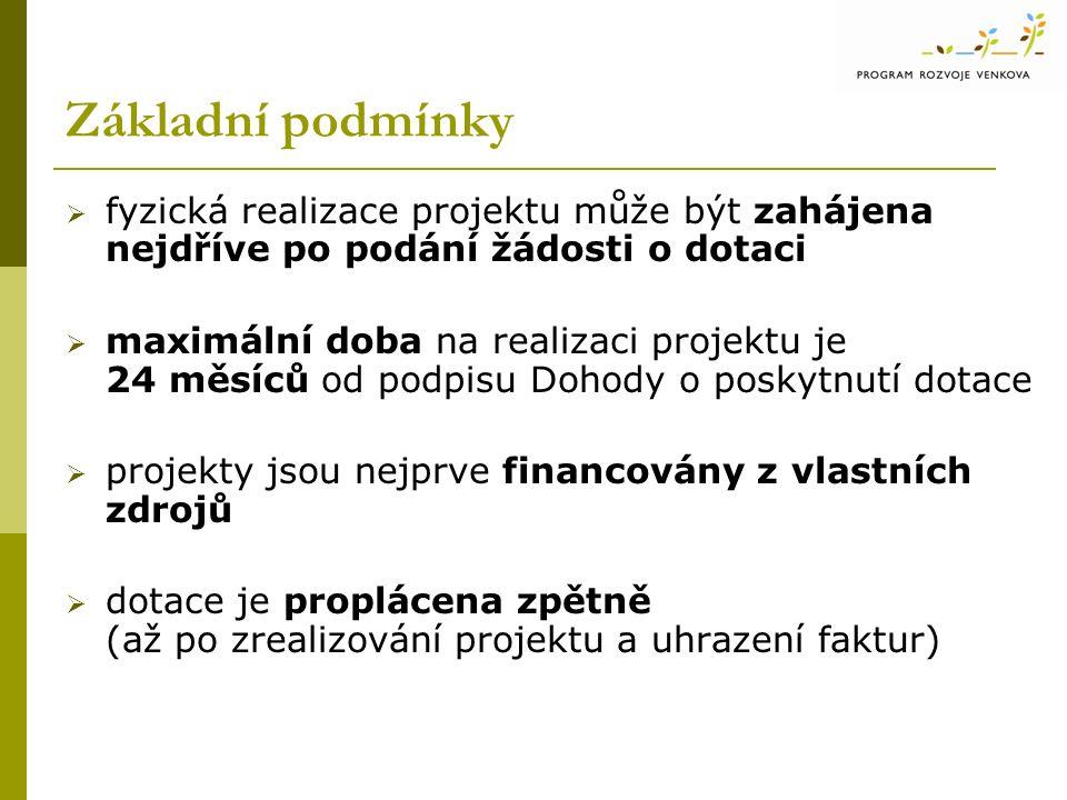 Postup administrace žádostí 1.příjem Žádostí o poskytnutí dotace na RO SZIF 2.