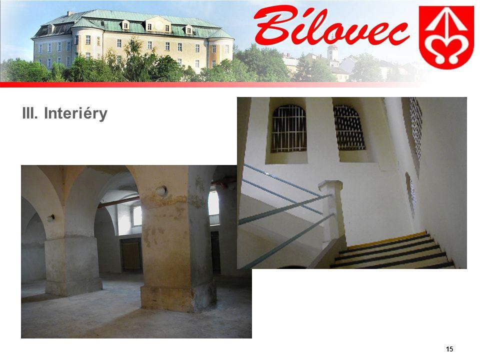 15 III. Interiéry