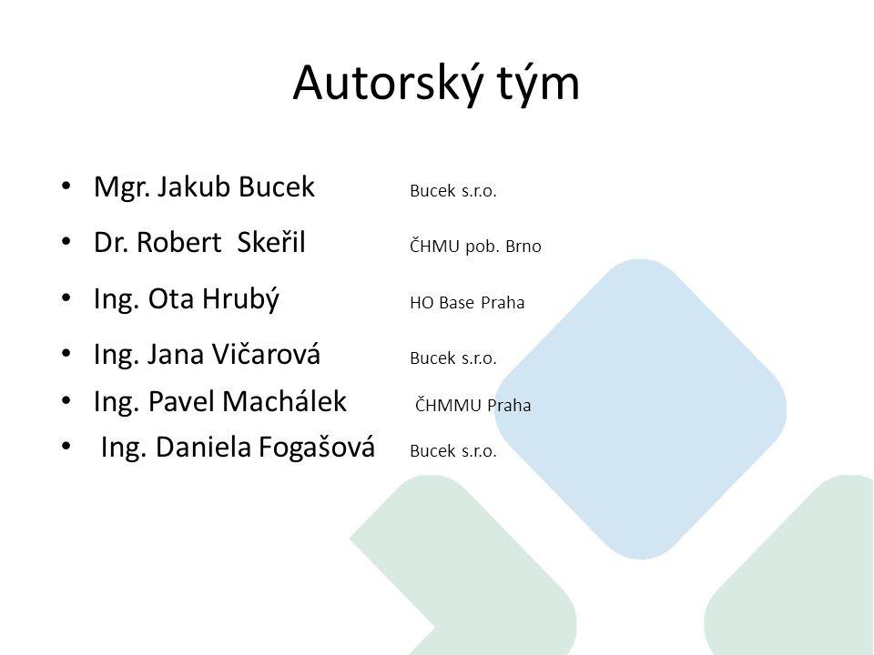 Autorský tým Mgr. Jakub Bucek Bucek s.r.o. Dr. Robert Skeřil ČHMU pob.