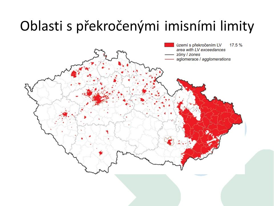 Oblasti s překročenými imisními limity