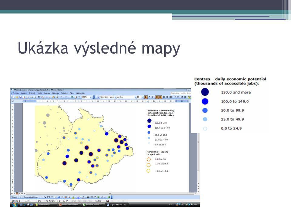 Ukázka výsledné mapy