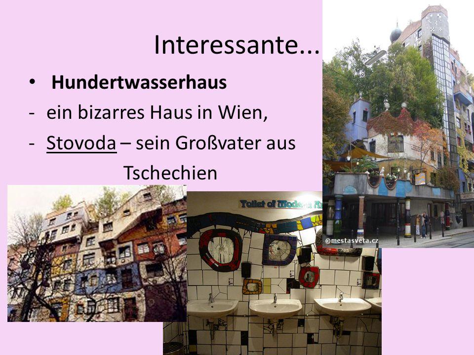 Hundertwasserhaus -ein bizarres Haus in Wien, -Stovoda – sein Großvater aus Tschechien Interessante...
